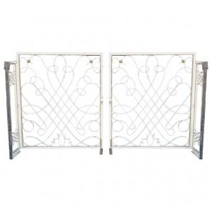 1940's french wrought iron rene prou style gates
