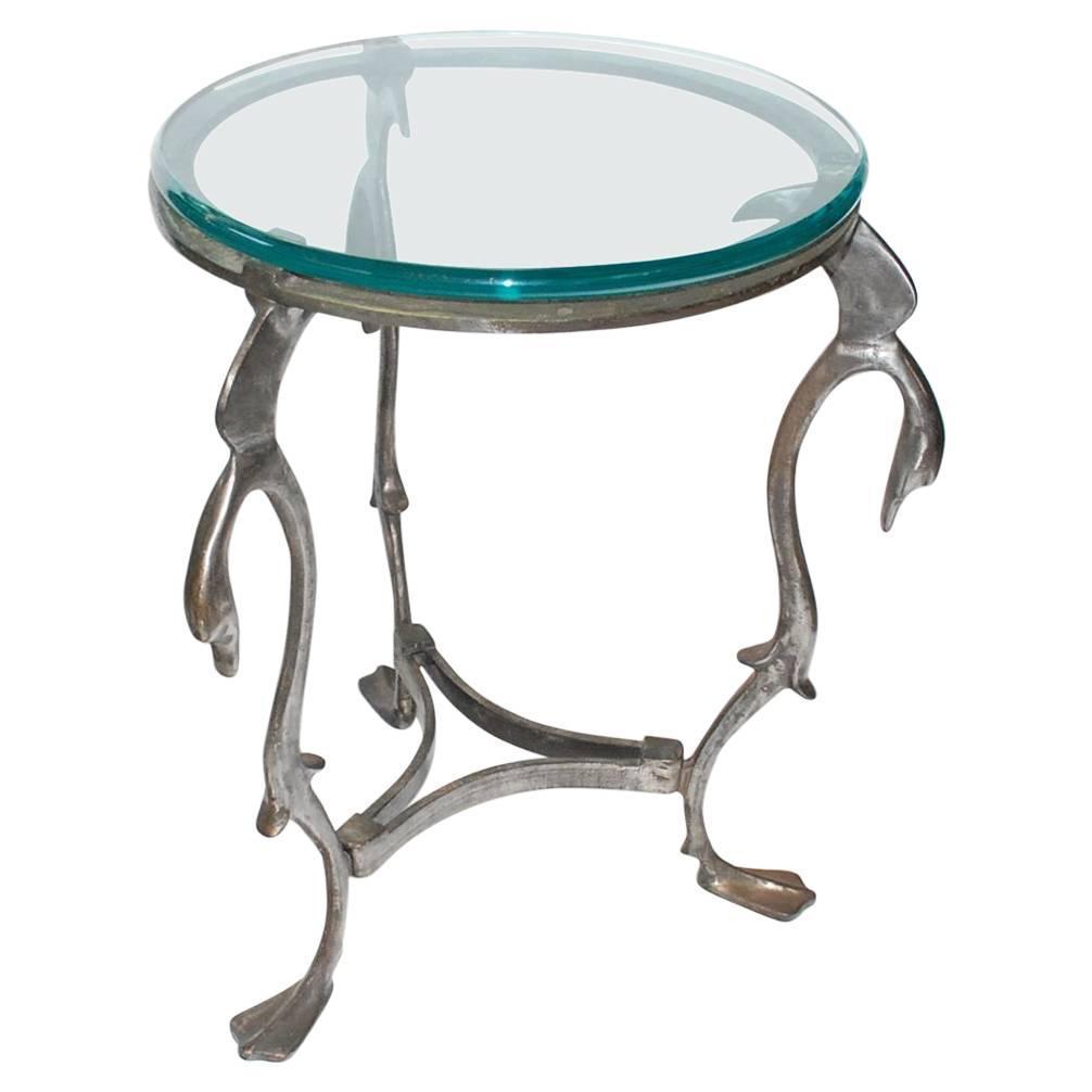 Iron Swan Gueridon Table