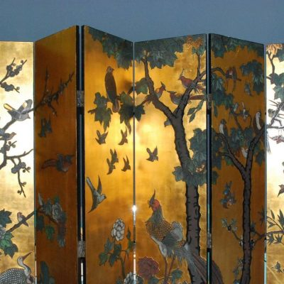 Six-Panel Folding Coromandel Screen-5
