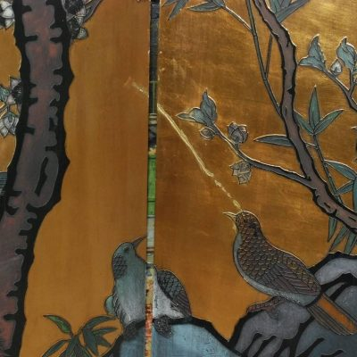 Six-Panel Folding Coromandel Screen-6
