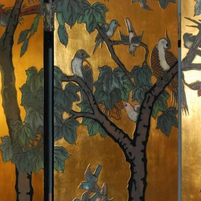 Six-Panel Folding Coromandel Screen-7