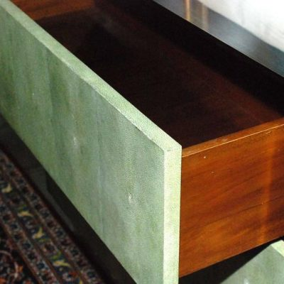 Large Three Drawers Shagreen Commode at Little Paris Antiques