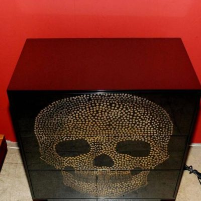 Pair of Sculptural Skull Commodes at Little Paris Antiques