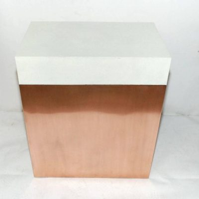 Pair of Shagreen and Copper Side Tables at little paris antiques