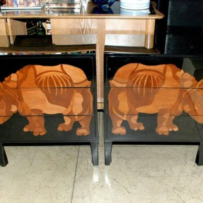 Pair-of-Lacquered-and-Wood-Inlay-Rhino-Design-Chest-of-Drawers-1