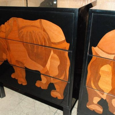 Pair-of-Lacquered-and-Wood-Inlay-Rhino-Design-Chest-of-Drawers-6