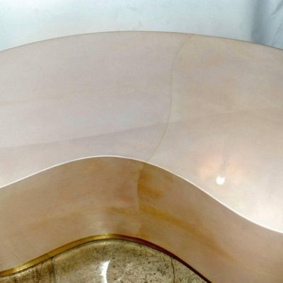 Parchment-Kidney-Shape-Coffee-Table-with-Brass-Detail-1