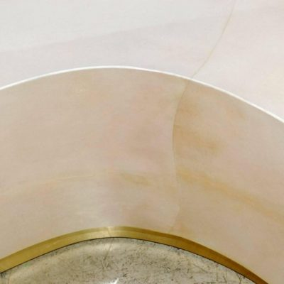 Parchment-Kidney-Shape-Coffee-Table-with-Brass-Detail-2