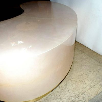Parchment-Kidney-Shape-Coffee-Table-with-Brass-Detail-3